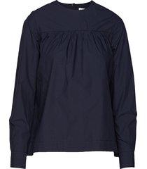 vega shirt blouse lange mouwen blauw wood wood