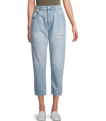 dl1961 women's susie high-rise tapered crop jeans - rollands - size 31 (10)