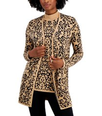 jm collection printed open-front cardigan, created for macy's