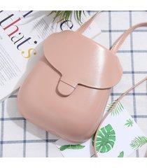 cuoio rotondo delle donne pu piccolo telefono borsa solid mini crossbody borsa