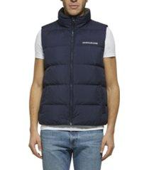 chaleco azul calvin klein down vest