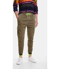 cargo trousers drawstring fluorine - green - 36