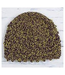 alpaca blend hat, 'autumn forest' (peru)