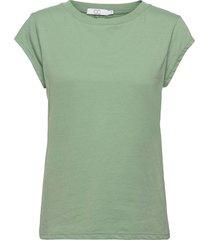 cc heart basic t-shirt t-shirts & tops short-sleeved grön coster copenhagen