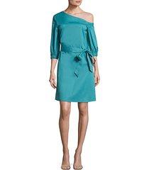 cotton poplin asymmetrical dress