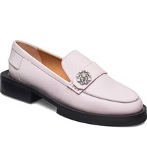 calf leather loafers låga skor rosa ganni