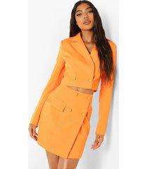 tall korte blazer, orange