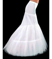 new white 2-hoop mermaid wedding dress bridal petticoat crinoline underskirt