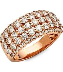 14k rose gold diamond tiered ring