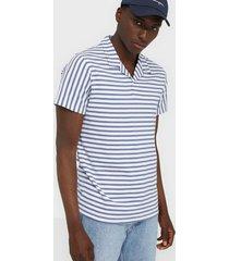 premium by jack & jones jprjohn bla. resort polo ss t-shirts & linnen vit