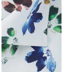 michaelis overhemd bloemen print cutaway single cuff slim fit