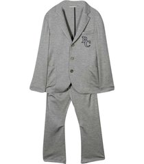 brunello cucinelli two-piece teen outfit with