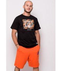t-shirt korte mouw starter black label starter korte broek in sweatshirt 72905-oranje