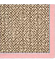 gucci modal silk shawl with gg bees motif - neutrals