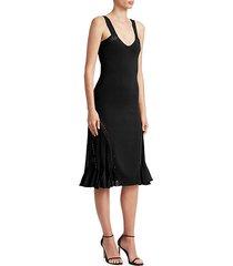 knit scoopneck fit-&-flare dress
