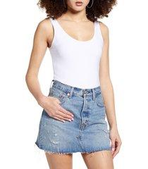women's leith sleeveless bodysuit, size x-large - white