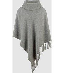 poncho dress in grå