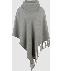 poncho dress in grå