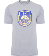 camiseta masculina basketball icon - cinza