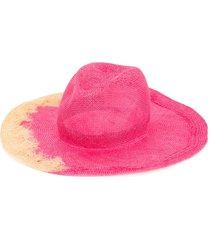 yoshiokubo yoshiokubo x kijimatakayukitie dye panama hat - pink