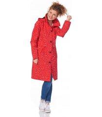 happyrainydays regenjas coat rachel dot red off white-xxl