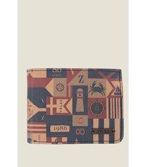 billetera flag de cuero para hombre