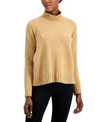 eileen fisher organic ribbed turtleneck box top
