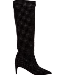 stivali donna con tacco in camoscio