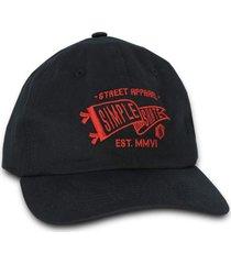 boné simple skateboard dad hat apparel preto