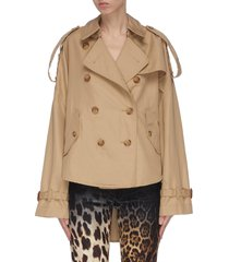 tuck-in trench jacket