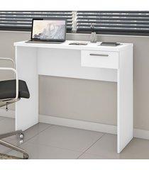 mesa escrivaninha 1 gaveta nt2000 branco - notavel
