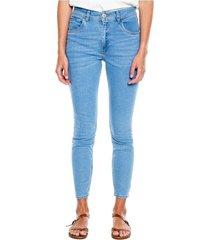 medium waist skinny jeans tono medio eco recycle color blue