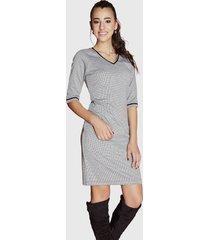 vestido tentation app terciopelo gris- calce regular
