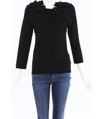 comme des garcons black knit bow sweater black sz: s