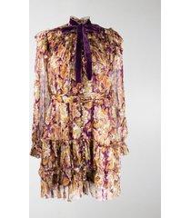 zimmermann paisley print blouson dress