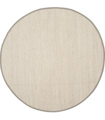 safavieh natural fiber marble and khaki 6' x 6' sisal weave round area rug