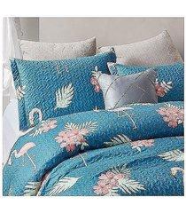 koc pled narzuta na łóżko 260x250 cm flamingo