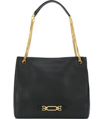 bally slouchy tote - black