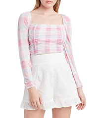 bcbgeneration mesh cropped top