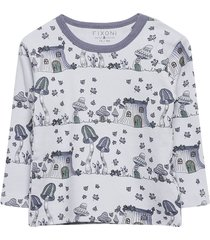 hush ls t-shirt-oekotex t-shirts long-sleeved t-shirts blå fixoni