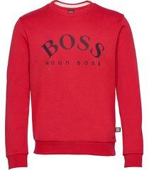salbo sweat-shirt tröja röd boss