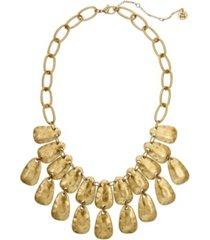 the sak hammered statement necklace