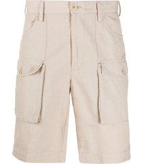 incotex straight-leg cargo shorts - neutrals