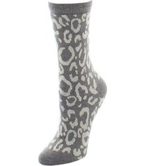 natori animal print socks, women's, brown natori