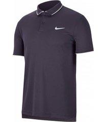 camiseta polo nike court dry team - gris