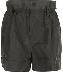 moncler high-waist flared shorts