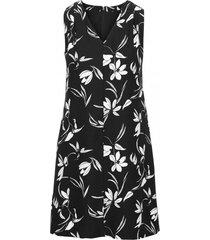 vestido floral graphic print negro banana republic
