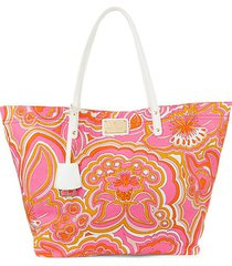 printed canvas slouchy tote