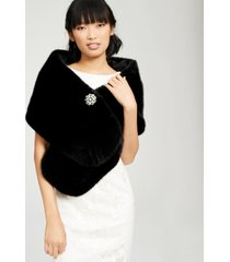 adrianna papell plus size faux-fur