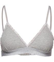 solid tamika bra lingerie bras & tops bra without wire grå becksöndergaard